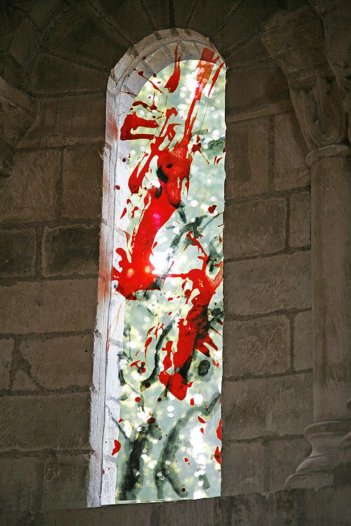 Les Vitraux De Zao Wou Ki Au Prieur 233 De Saint Cosme 37