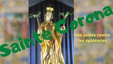 Sainte Corona ou sainte Couronne, invoquée contre les épidémies...